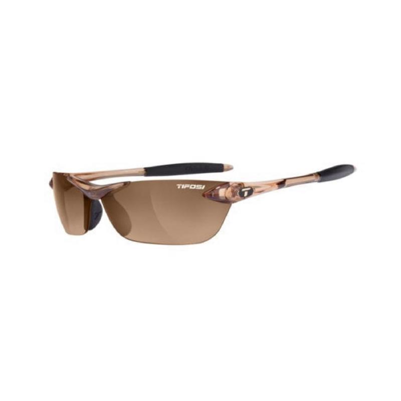Tifosi Seek Crystal Brown Sunglasses Brown Gradient Lens