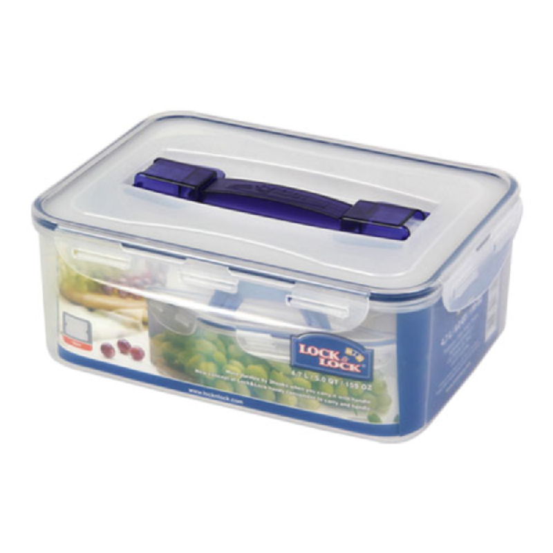 HPL881-RECTANGULAR TALL CONTAINER 4.7L W HANDLE(Tray)
