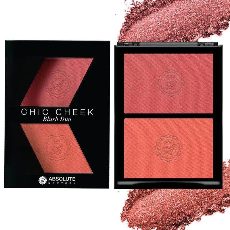 Absolute New York Chic Cheek Blush Duo 04 Pure Pink Papaya