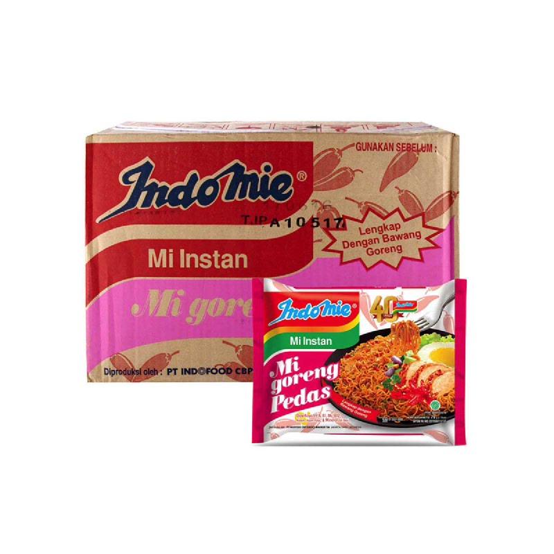 Indomie Mie Instant Goreng Pedas 80 Gr (1 Karton)
