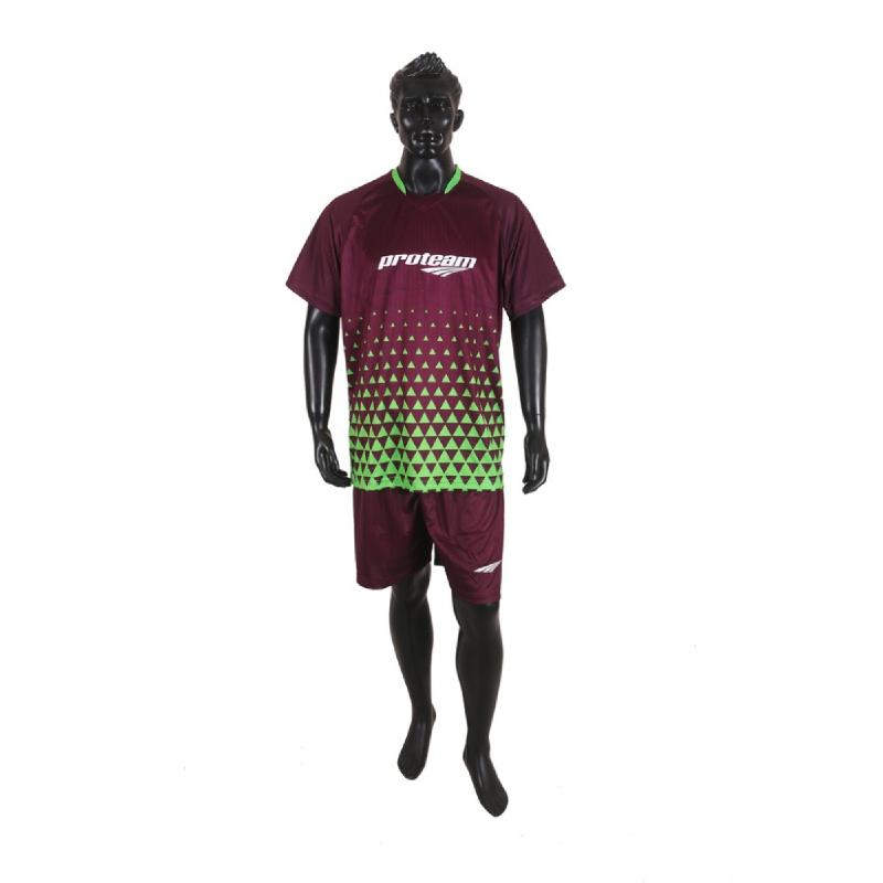 PROTEAM Jersey 3Line Futsal Maroon - Green
