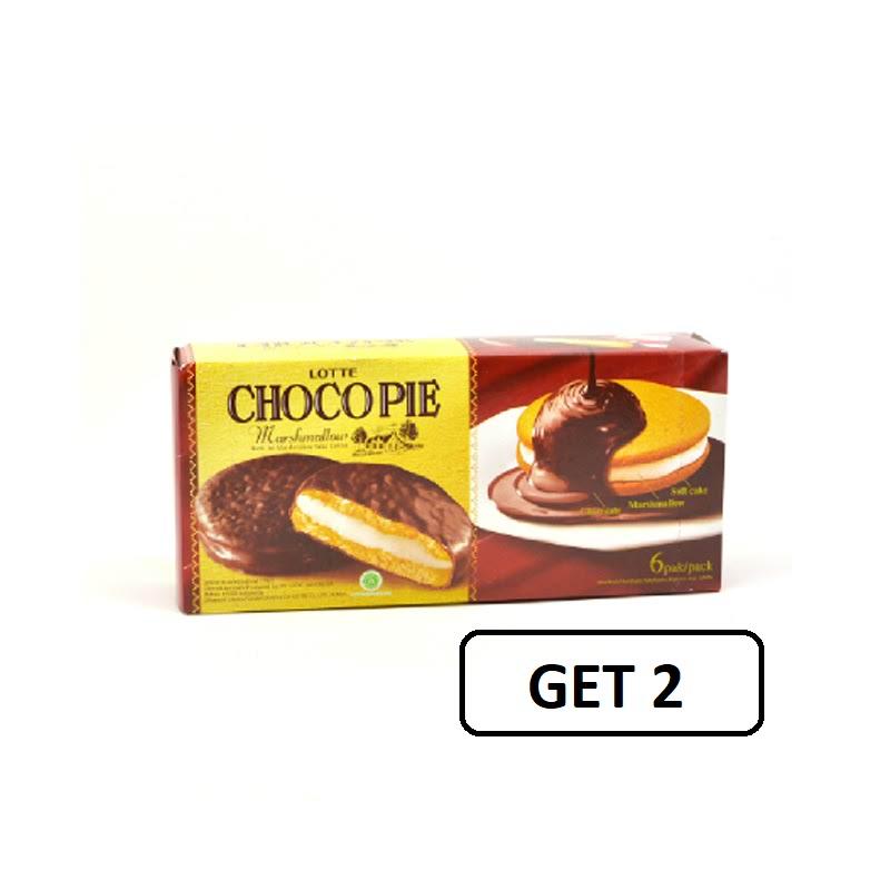 Lotte Choco Pie Marshmallow 168 Gr (Get 2)