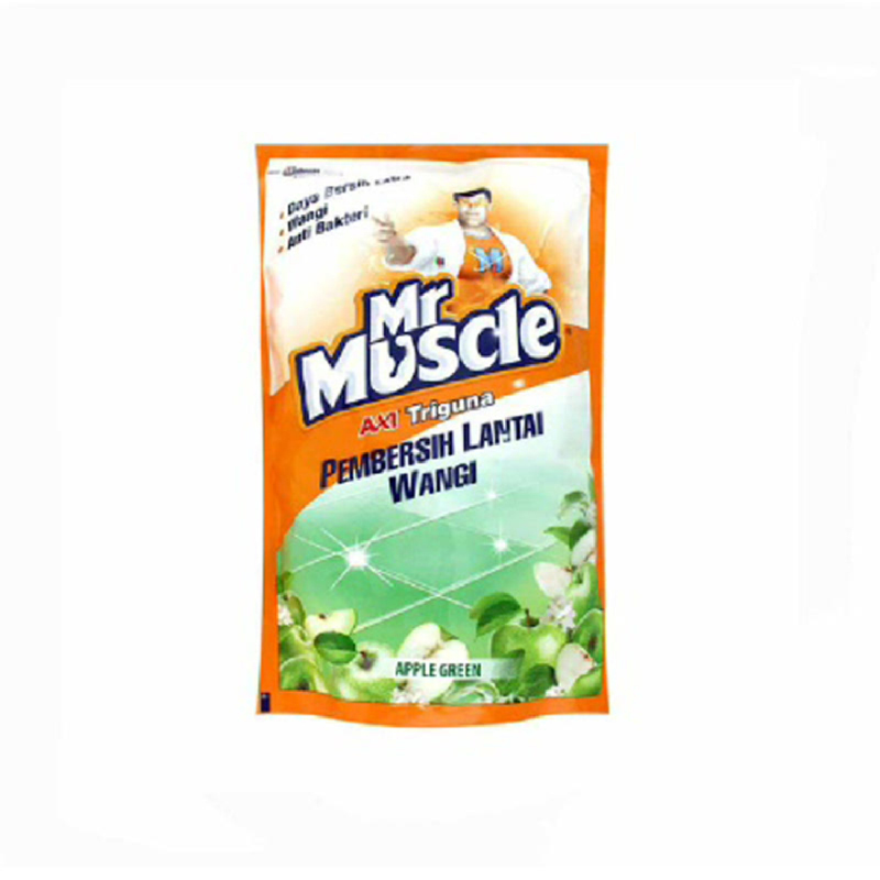 Mr. Muscle Axi Triguna Apple Green Pouch 800 Ml