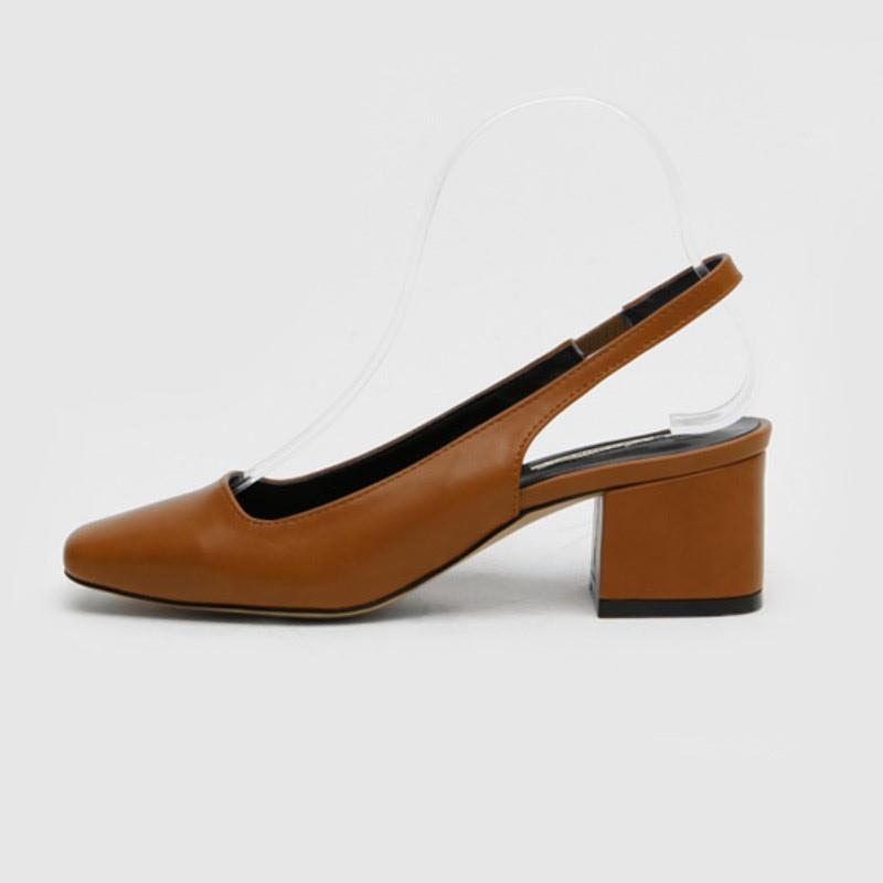 Mowen Slingback Mid Heel (6cm) Brown