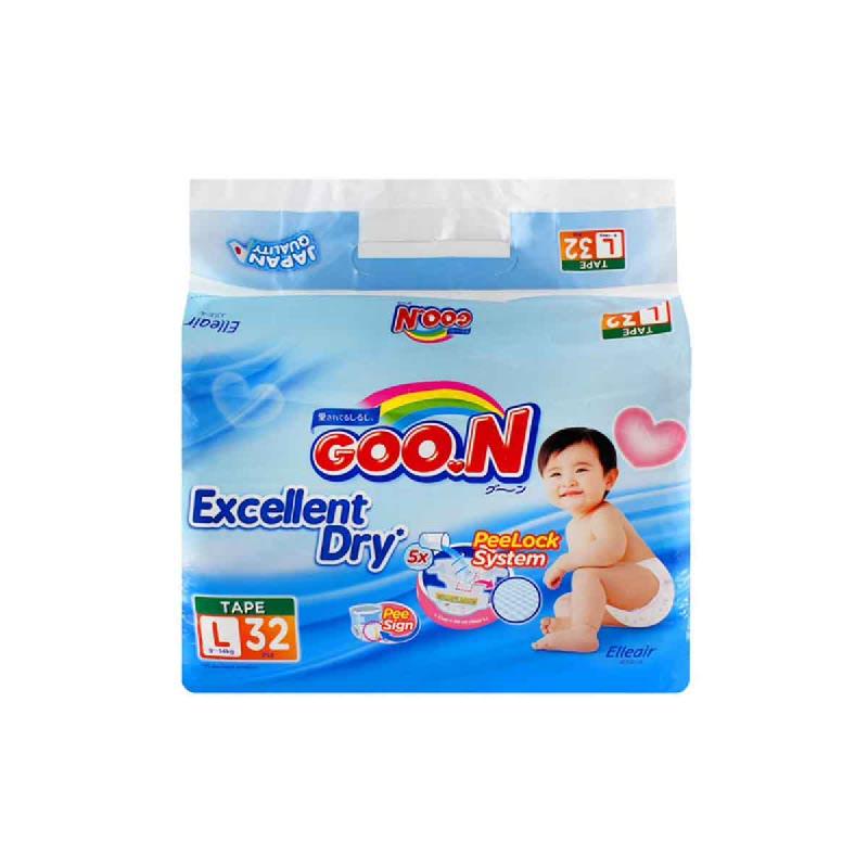 Goo.N Popok Tape Jumbo L 32S