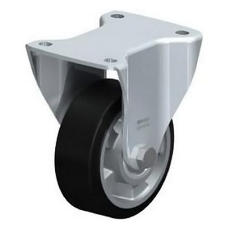 BH-ALEV 127K Wheel with Elastic Solid Rubber Tyre Fixed Castors