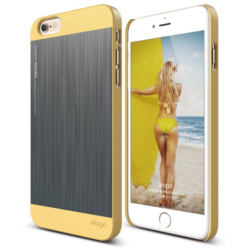 Elago Outfit Matrix Case for iPhone 6S Plus - Creamy Yellow + Dark Gray