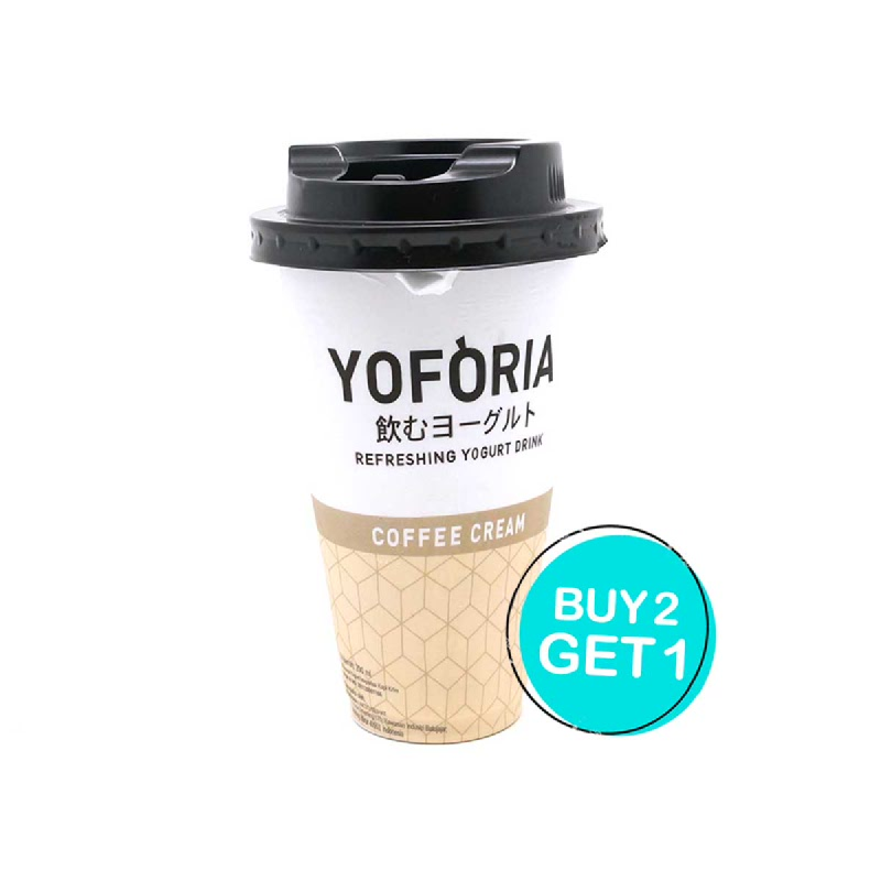 Yoforia Coffee Cream Botol 200 Ml (Buy 2 Get 1)