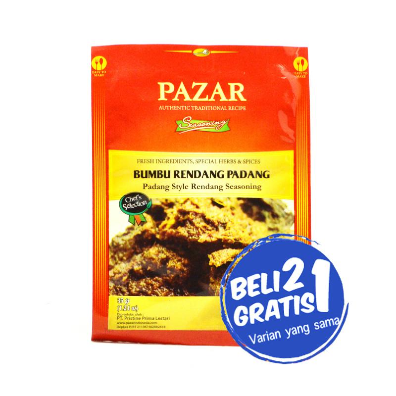 Pazar Bumbu Rendang Padang Sachet 35 Gr (Buy 2 Get 1)