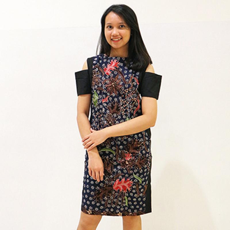 Batik Semar Crop Shoulder Dress (Size XL)