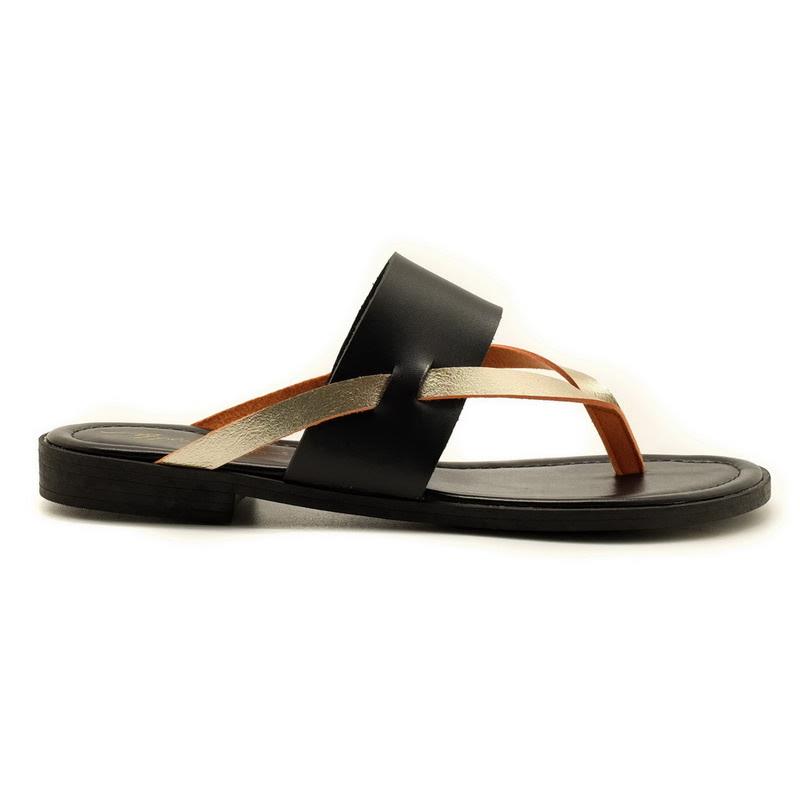 Apple Green Velda Sandals Black