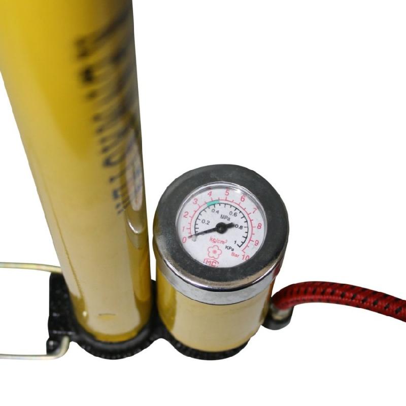 Kenmaster Pompa Sepeda + Meter Kuning