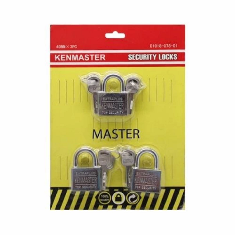 Kenmaster Gembok Master Key 40mm x 3pc