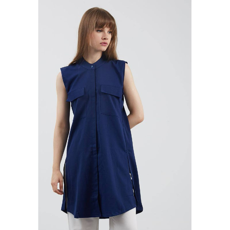 Elif Navy Top