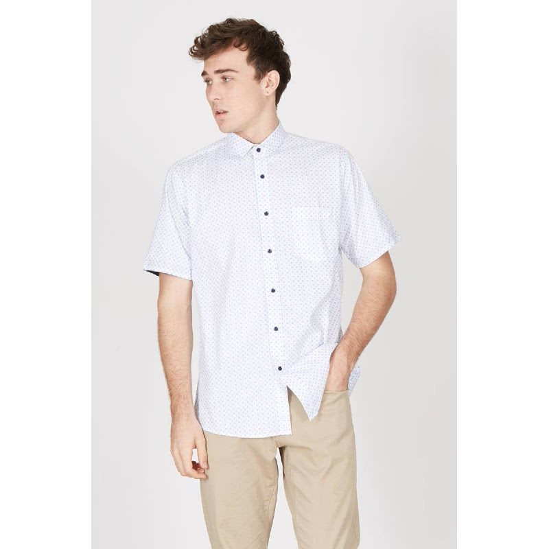 Men Arrow Shirt SS White