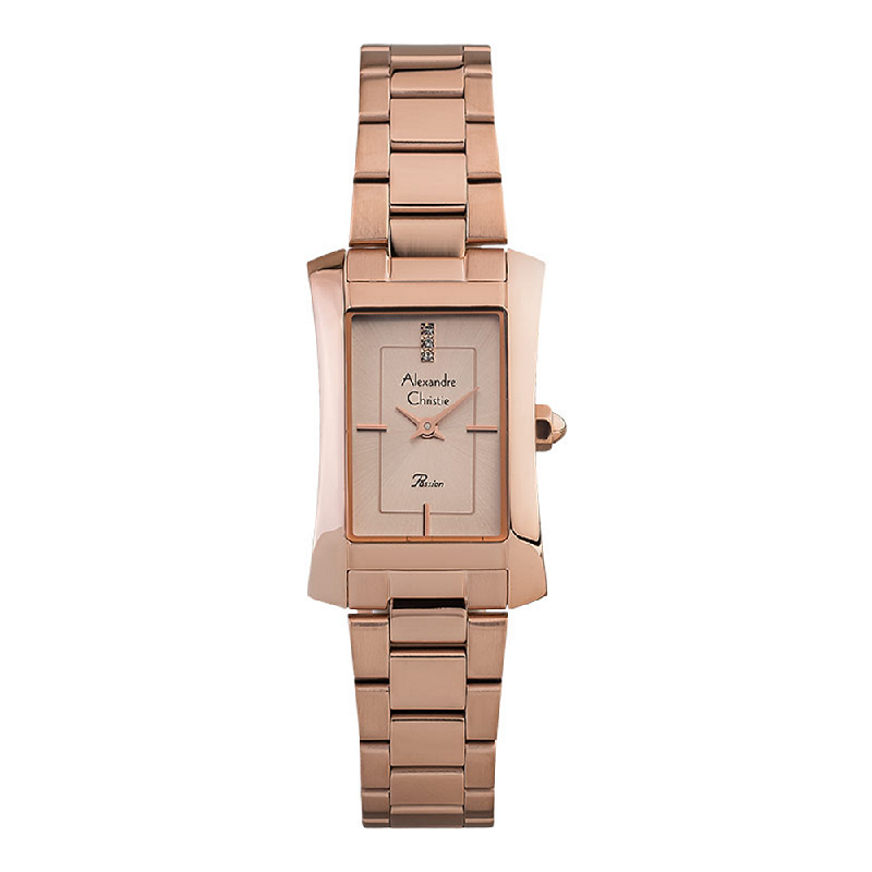 Alexandre Christie Passion AC 2905 LH BRGLN Ladies Rose Gold Dial Rose Gold Stainless Steel