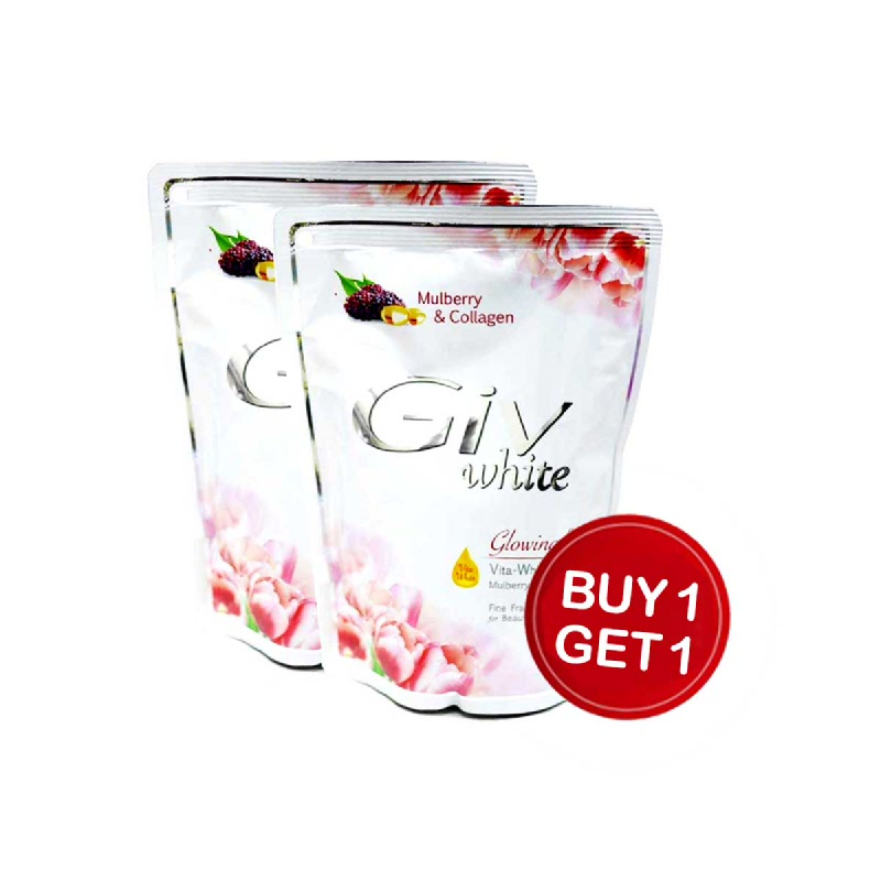 Giv Body Wash Glowing White Mulberry Pouch 450 Ml (Buy 1 Get 1)