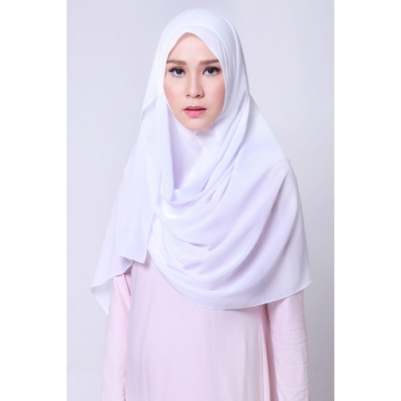 BIA by Zaskia Mecca Kerudung Sifon Amara Putih