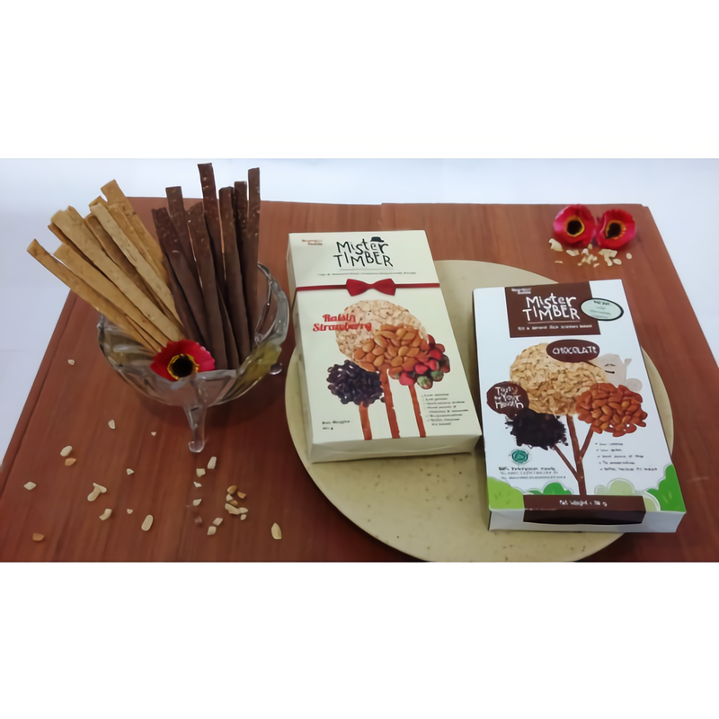 Mister Timber - Mister Timber Mix (Raisin Strawberry & Double Choco (With Coating Chocolate)) isi 2 box