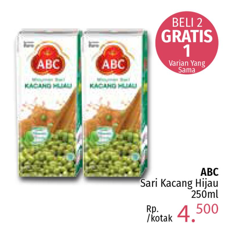 Abc Sari Kacang Hijau 250Ml (Buy 2 Get 1)