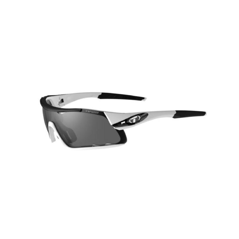 Tifosi Davos White-Black Sunglasses 3 Lenses Smoke-Ac Red-Clear