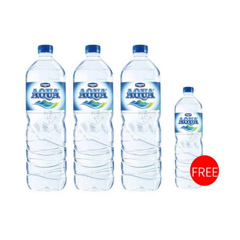 Aqua Mineral Water 1500 Ml (Buy 3 Get 1 Free)