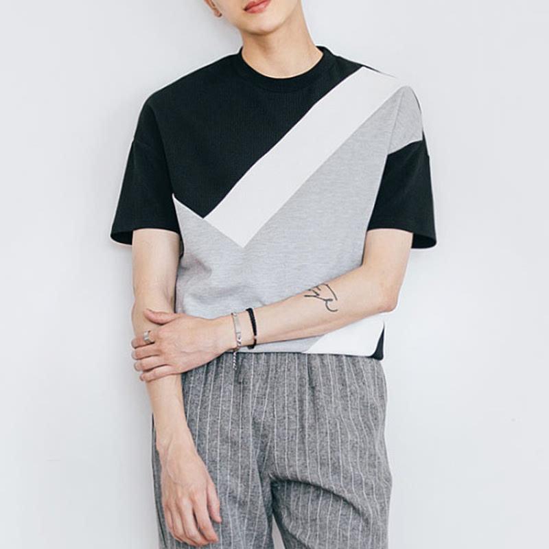 Melting Cut Coloration T-shirt - Black
