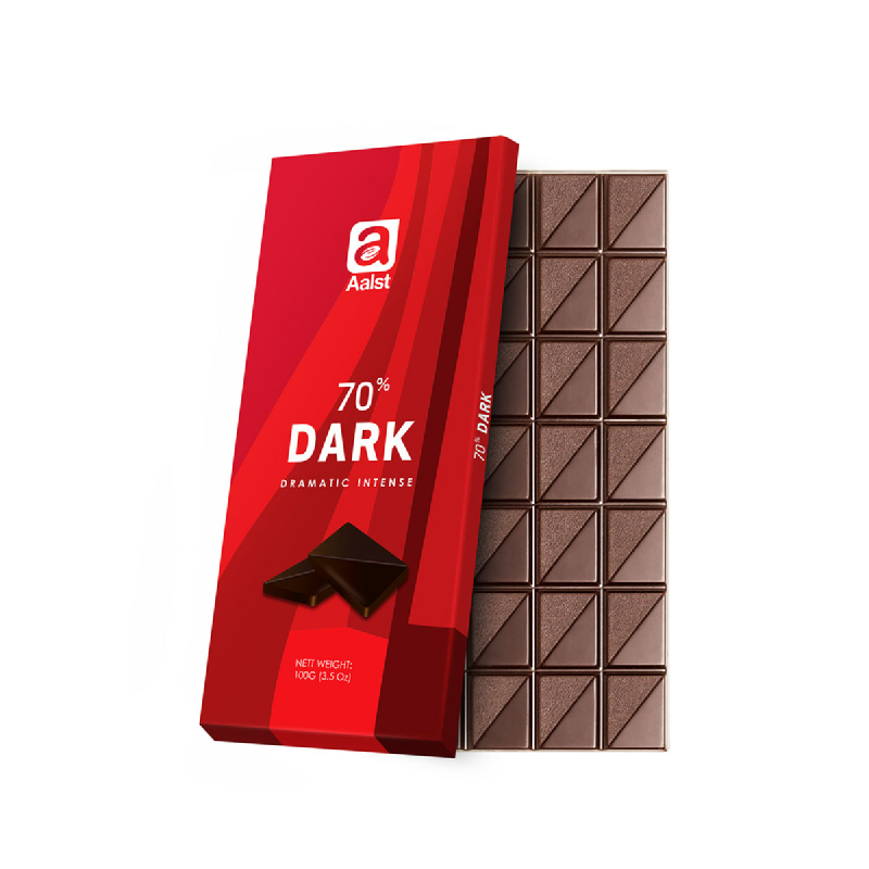 Aalst Chocolate 70% Dark Dramatic Intense 100 Gr