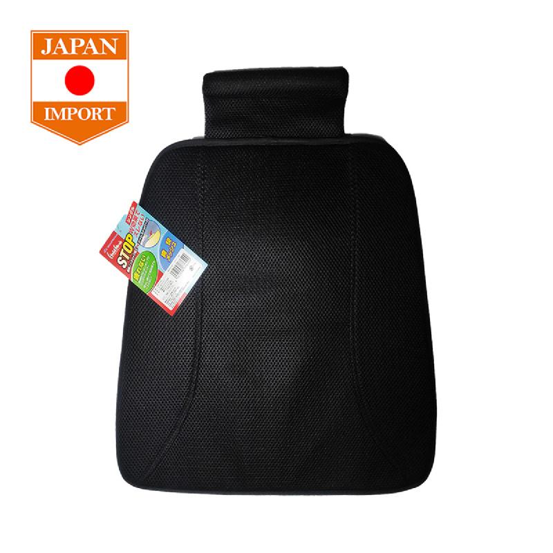 Bonform Single Seat Cushion Hold Mesh Bantal Jok Mobil [Japan Import]  Black