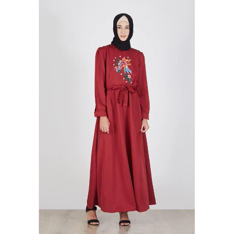 Rania Dress Maroon