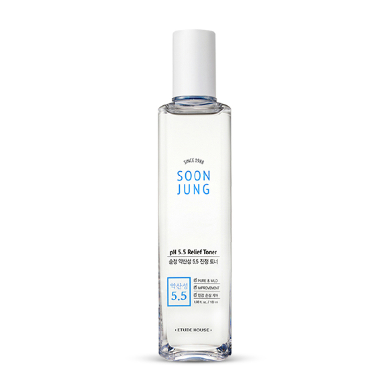 Etude House Soon Jung pH 5.5 Relief Toner - Regular Size (180ml)