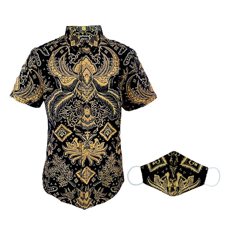 Arthesian Kemeja Batik Pria Marshello Batik Printing Brown