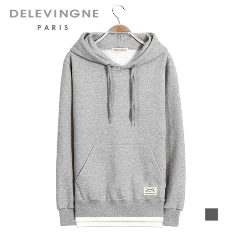Claire Layered Gray Hoodie Long Sleeve Big Size Unisex