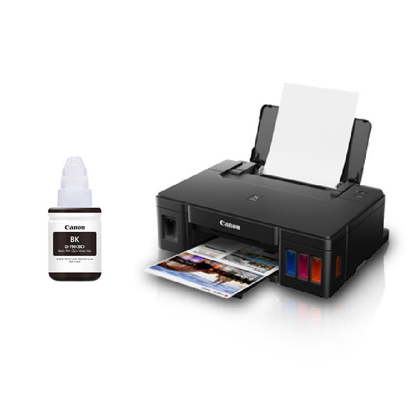 Canon Inkjet Printer Pixma G1010 + Canon Ink GI-790 Black
