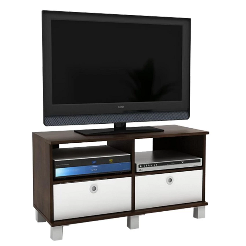 FUNIKA 11156-1 - Rak TV dengan 2 Rak Pintu Lipat - Sonoma Oak Sopresso
