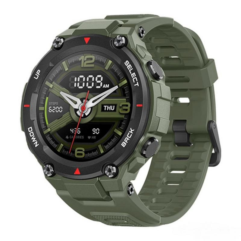 Amazfit T-Rex Smartwatch GPS Waterproof AMOLED Display Original Huami Army Green