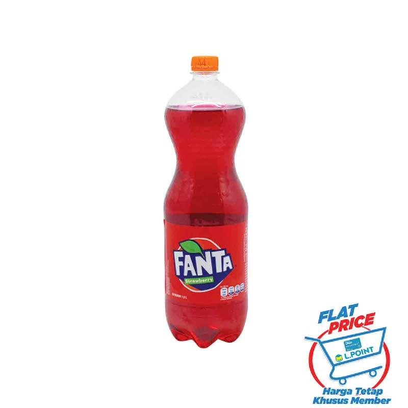 Fanta Stroberi Botol 1500 Ml (Flat Price)