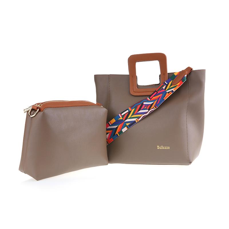 Bellezza Hand Bag 614981-01 Khaki