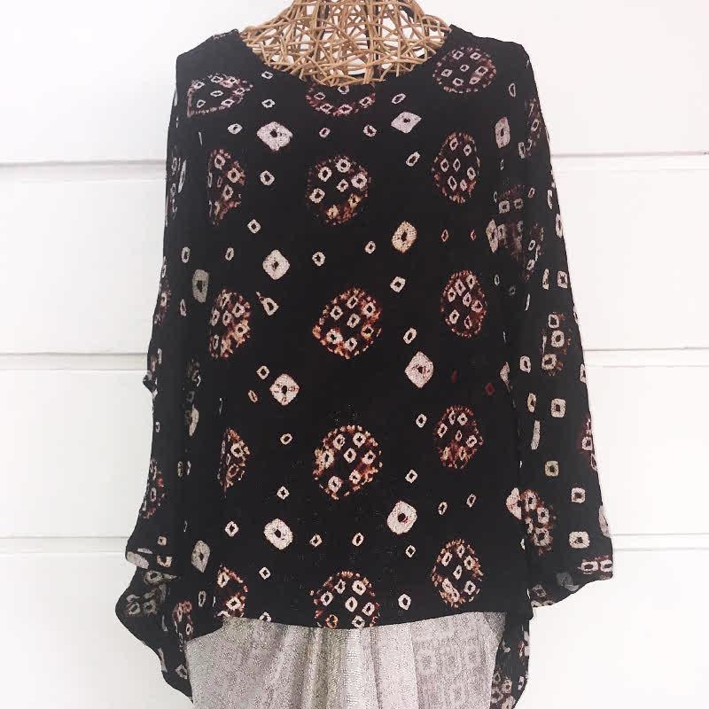 Batik Chic Blouse Jumoutan Coklat