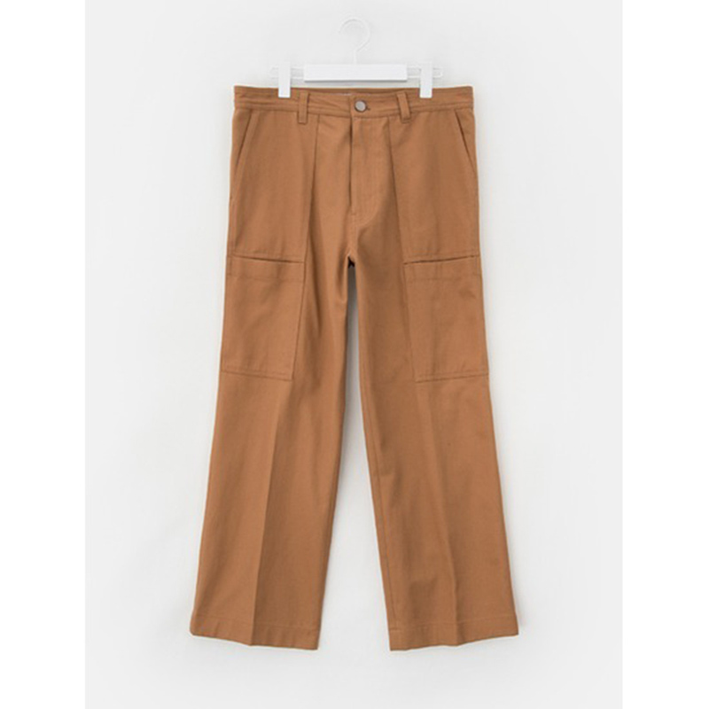 8 seconds Men Yellowish Brown Cotton Two Pocket Cargo Pants - Yellowish Brown