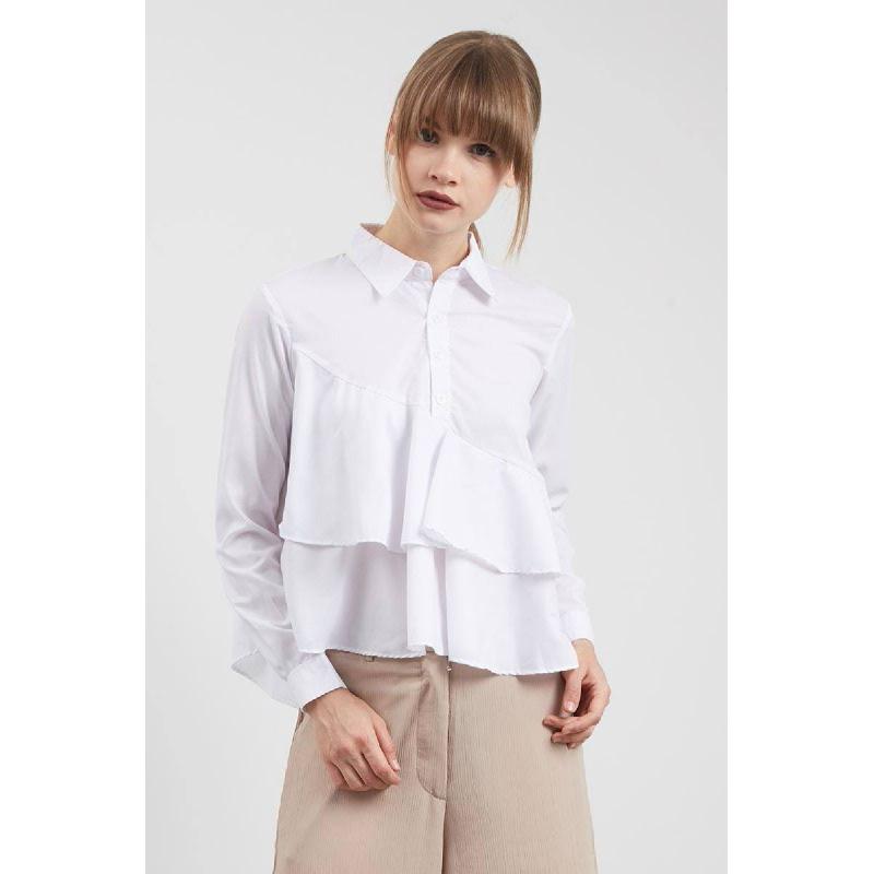 Sig Asymmetrical Shirt White