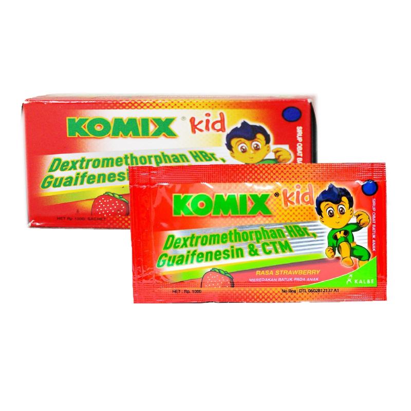 Komix Kid Rasa Strawberry 10sachet x 5ml