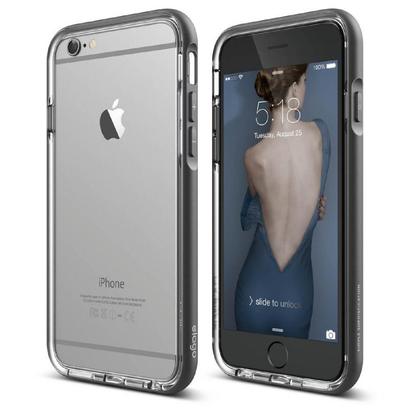 Elago Aluminum Bumper Case for iPhone 6, 6S - Dark Gray