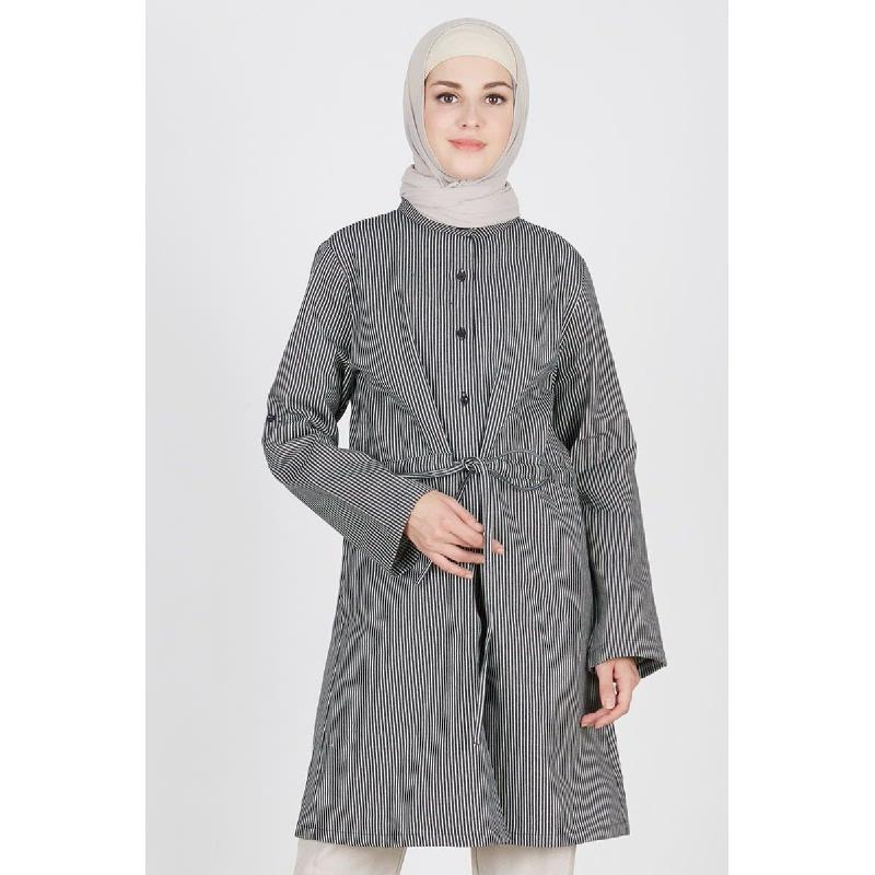 Mardie Shirt Outer Stripe Black