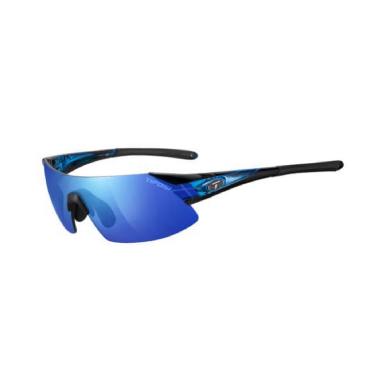 Tifosi Podium XC Crystal Blue Sunglasses 3 Lenses Clarion Blue-Ac Red-Clear