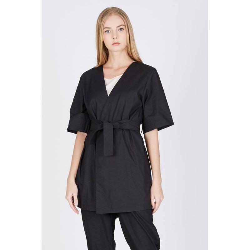 Macia Overlap Coat Black