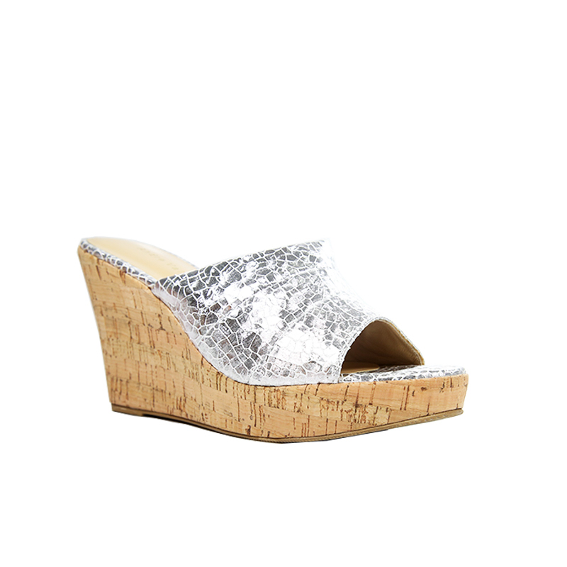 Andre Valentino Wedges Silver