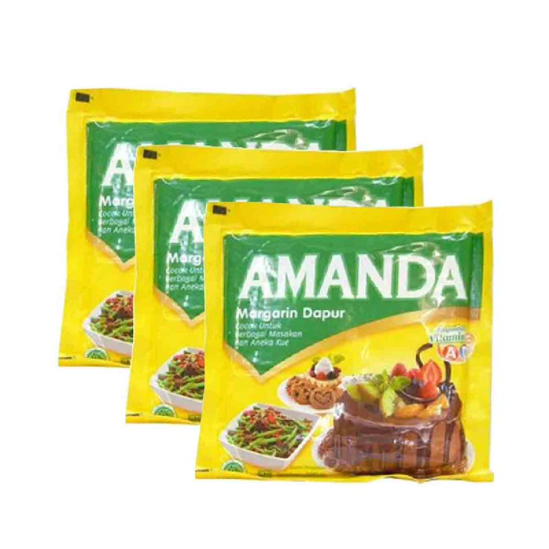 Amanda Margarine Dapur 200Gr (Buy 2 Get 1)