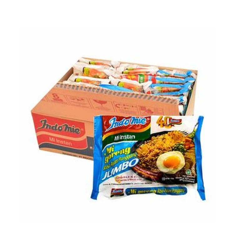 Indomie Mie Instant Goreng Jumbo Ayam Panggang 127 Gr (1 Karton)