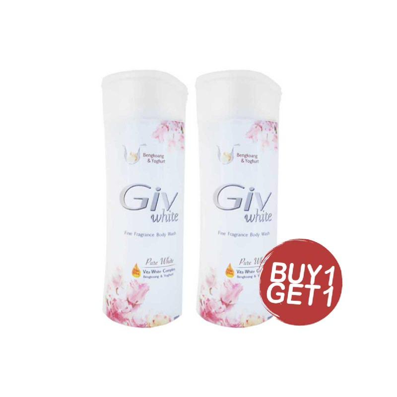 Giv Sabun Mandi Pure White Bengkoang Botol 250 Ml (Buy 1 Get 1)